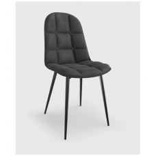 K417 gray velvet chair