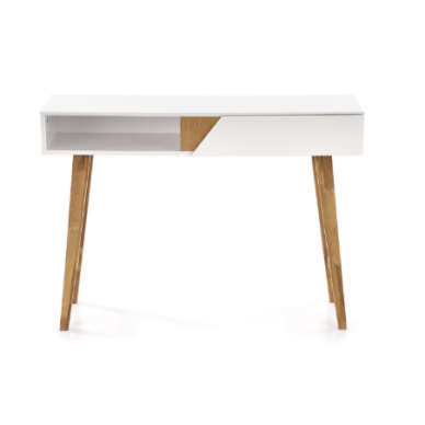 KN-1 rašomasis stalas su lentyna ir stalčiumi 3