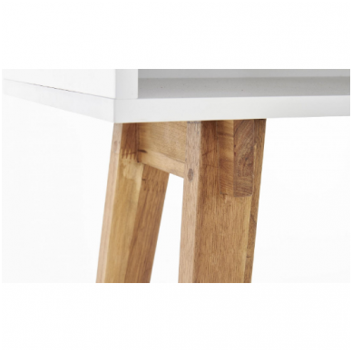 KN-1 rašomasis stalas su lentyna ir stalčiumi 4