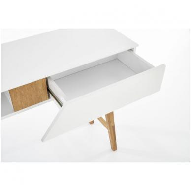 KN-1 rašomasis stalas su lentyna ir stalčiumi 7