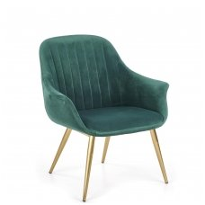 ELEGANCE 2 tamsiai žalias minkštas fotelis