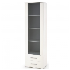 LIMA W-1 white showcase with drawers