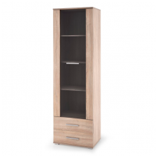 LIMA W-1 sonoma oak colored showcase with drawers