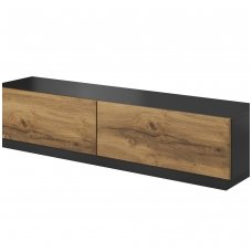 LIVO RTV-160S anthracite mat / votan oak colored Standing with drawer TV