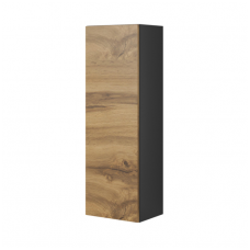 LIVO S-120 anthracite mat / votan oak colored hinged showcase - shelf