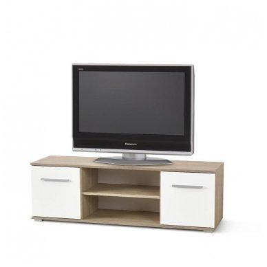 LIMA RTV-1 sonomos ąžuolo / baltos spalvos TV stendas su stalčiais
