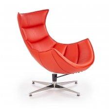 LUXOR raudonas odinis fotelis
