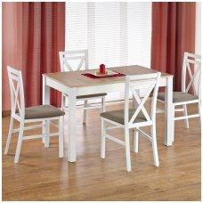 MAURYCY sonomos ąžuolo / baltos spalvos išskleidžiamas valgomojo stalas