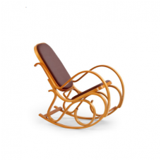 MAX BIS PLUS alder colored swinging armchair from bent wood