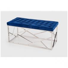 MILAGRO suolas, rėmas - sidabrinis, sėdynė - tamsiai mėlyna