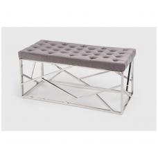 MILAGRO suolas, rėmas - sidabrinis, sėdynė - pilka