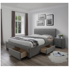 MODENA 180 bed with gray drawers