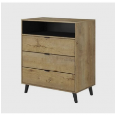 NEST KM-2 lefk oak chest of drawers
