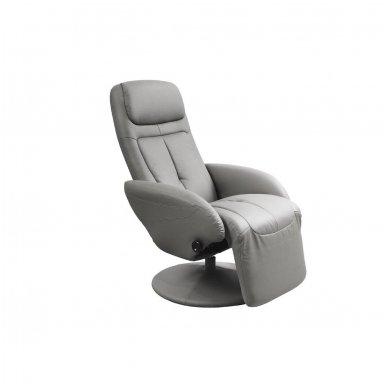 OPTIMA pilkas fotelis su išskleidžiamu pakoju