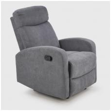 OSLO 1S pilkas spalvos fotelis su išskleidžiamu pakoju