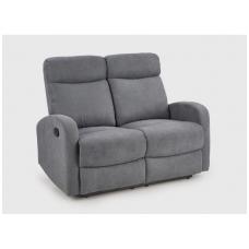 OSLO 2S pilka sofa su išskleidžiamu pakoju