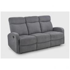 OSLO 3S pilka sofa su išskleidžiamu pakoju