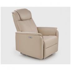 PARADISE išskleidžiamas smėlio spalvos fotelis su USB lizdu