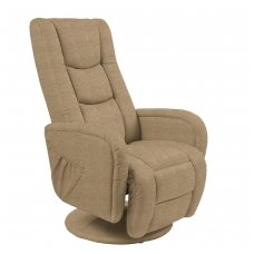 PULSAR 2 smėlio spalvos kėdė su masažo funkcija
