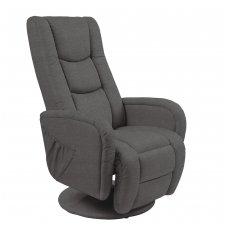 PULSAR 2 tamsiai pilka kėdė su masažo funkcija