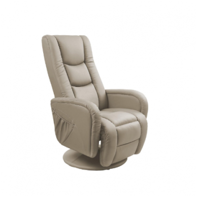PULSAR cappuccino spalvos kėdė su masažo funkcija