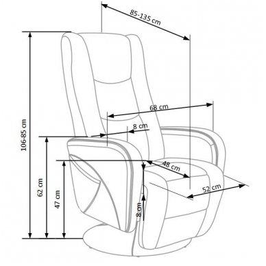 PULSAR cappuccino spalvos kėdė su masažo funkcija 2