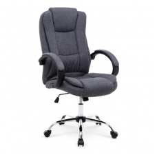 RELAX 2 tamsiai pilka vadovo biuro kėdė su guminiais ratukais