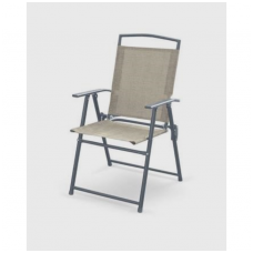 ROCKY gray folding chair