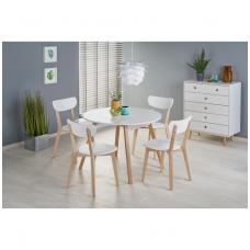 RUBEN baltas išskleidžiamas valgomojo stalas