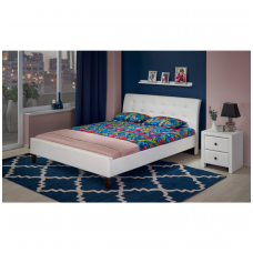 SAMARA 180 white double bed
