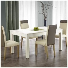 SEWERYN white extension dining table
