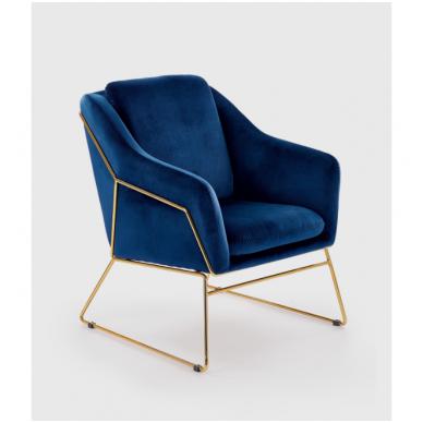 SOFT 3 minkštas fotelis tamsiai mėlynas