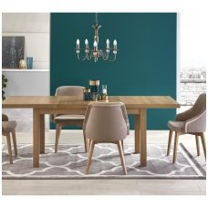TIAGO 2 riviera oak colored extension dining table
