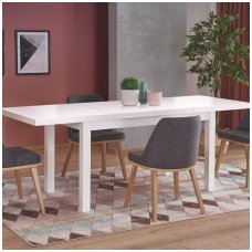 TIAGO 2 white extension dining table