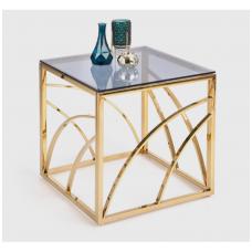 UNIVERSE KWADRAT gold coffee / magazine table