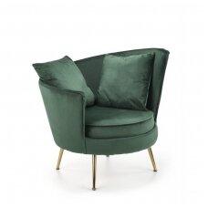 ALMOND tamsiai žalias minkštas fotelis
