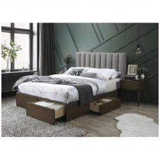 GORASHI 160 dvigulė miegamojo lova su stalčiais