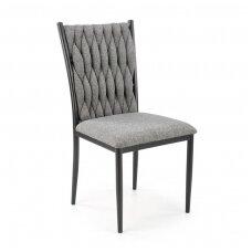 K435 pilka metalinė kėdė