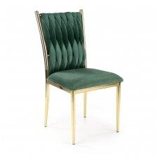 K436 tamsiai žalia metalinė kėdė