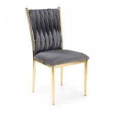 K436 pilka metalinė kėdė