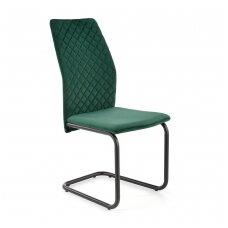 K444 tamsiai žalia metalinė kėdė