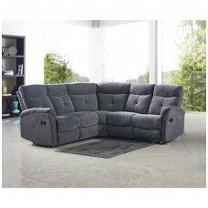 LAHTI tamsiai pilka kampinė sofa su išskleidžiamu pakoju