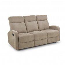 OSLO 3S smėlio spalvos sofa su išskleidžiamu pakoju