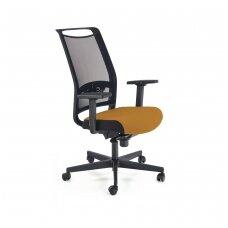 GULIETTA garstyčių spalvos biuro kėdė su ratukais
