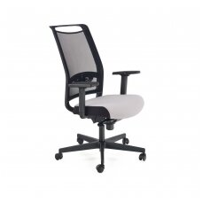 GULIETTA pilka biuro kėdė su ratukais