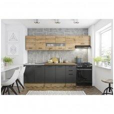 PERLA 260 ąžuolo artisan spalvos virtuvės komplektas