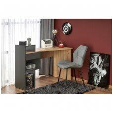 CONTI rašomasis stalas su lentynom ( ąžuolo votan / antracitas)