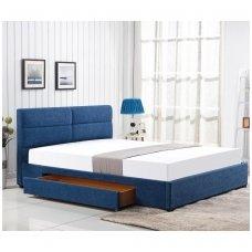 MERIDA 160 mėlyna dvigulė miegamojo lova