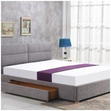 MERIDA 160 šviesiai pilka dvigulė miegamojo lova