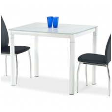 ARGUS pieniškos spalvos stiklinis valgomojo stalas
